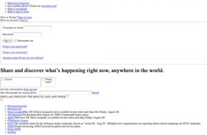 Twitter.com without the css style sheet (Click to enlarge)