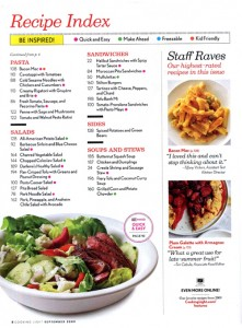 New recipe index (click to enlarge).