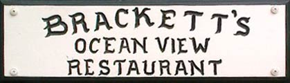 Brackett's Ocean View Restaurant, old logo