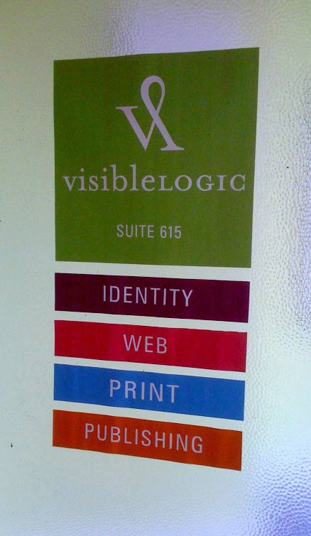 The new design of the Visible Logic door sign