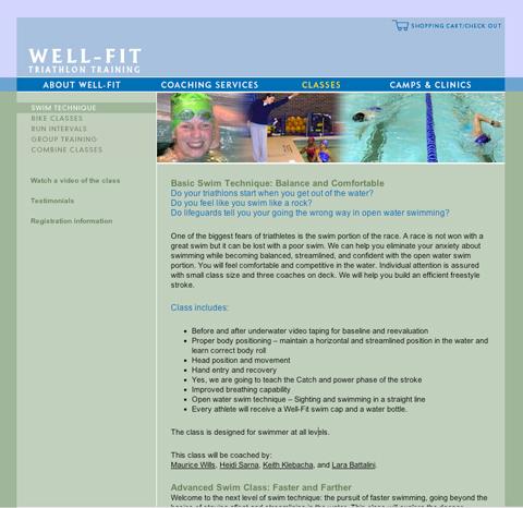 Design of interior web page