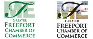 Alternative logo designs for the Greater Freeport Chamber of Commerce
