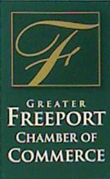 Photo of the signage for the Greater Freeport Chamber of Commerce