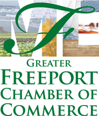 The new logo for the Greater Freeport Chamber of Commerce