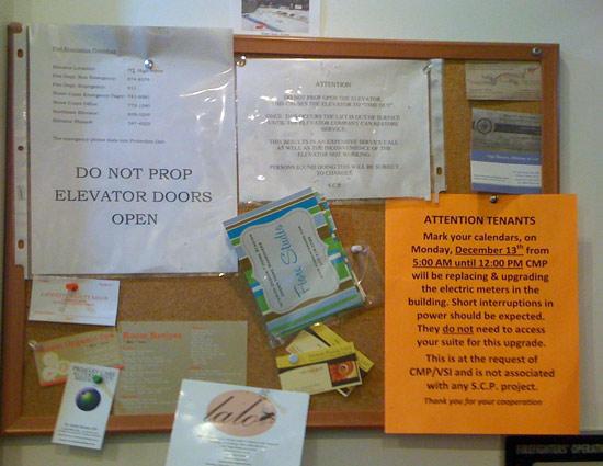 Sign on Bulletin Board