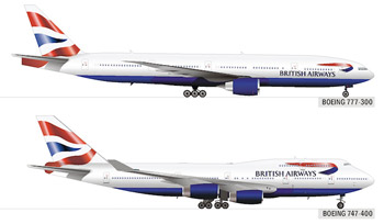 British Airways logo on their planes.