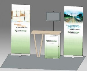 ClaimVantage tradebooth graphics