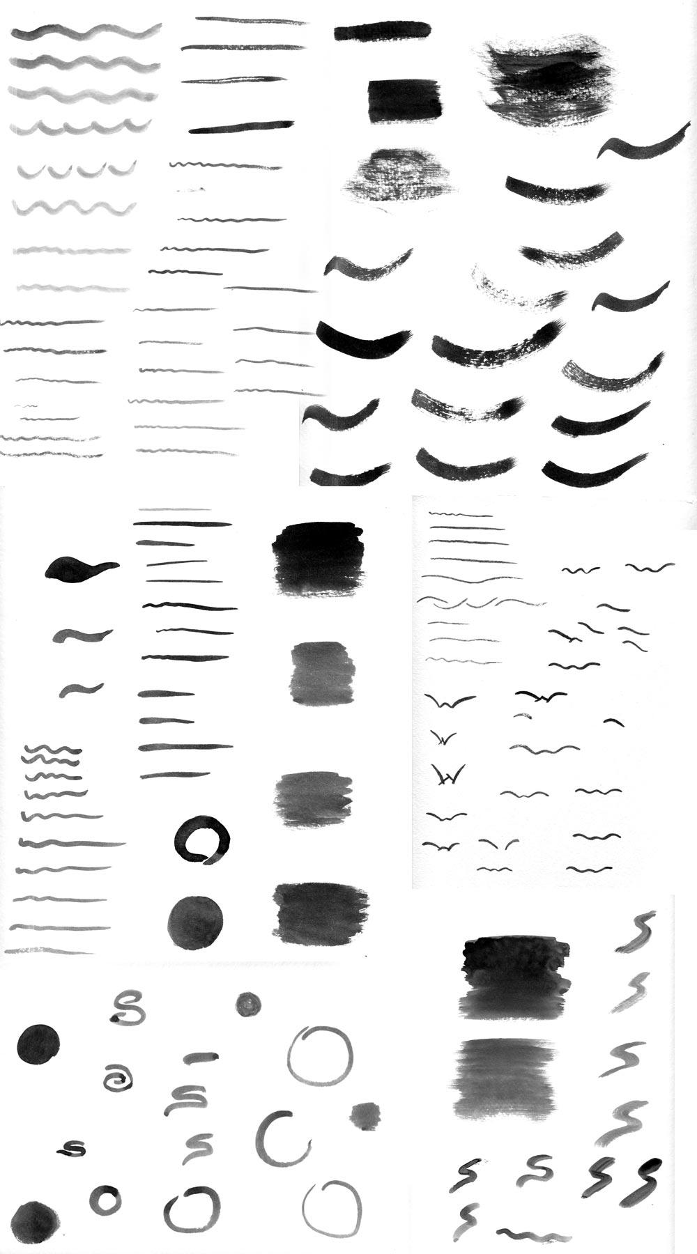Logo design development using watercolors