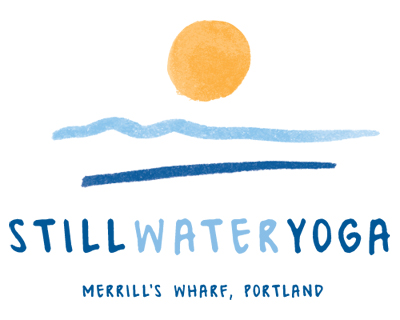 Final logo design for Still Water Yoga in Portland Maine.