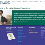 Maine Cancer Consortium web design