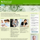 New Leaf Project Management site design