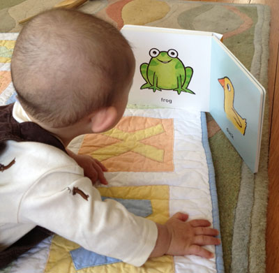 A baby gets simplified images ingrained early