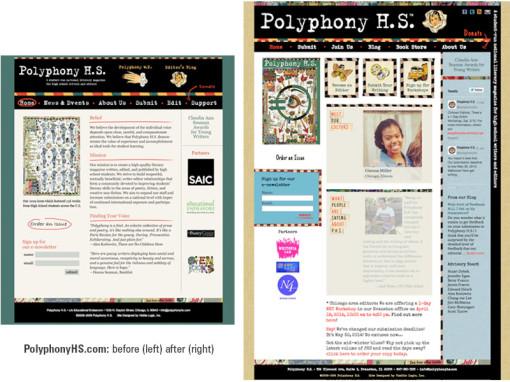 PolyphonyHS.com redesign