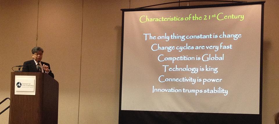 Dr. Edison Liu lists the Characteristics of the 21st Century Economy.