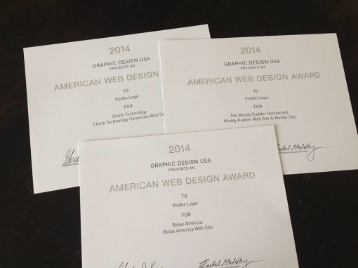 Visible Logic wins 3 American Web Design Awards