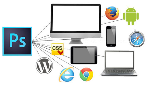 Using Photoshop to design web sites