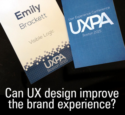 Web UX to improve brand experience
