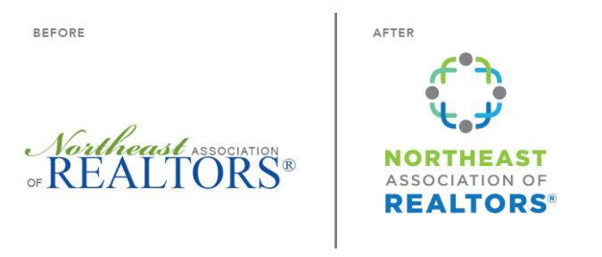 Logo design: before and after