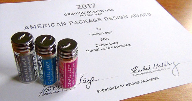 Dental Lace packaging wins American Graphic Design Award