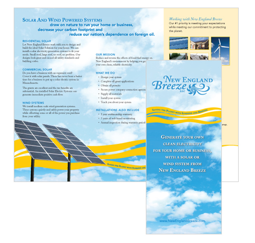 New England Breeze Tri Fold brochure