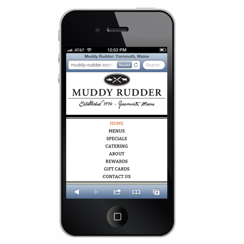 Muddy Rudder Mobile Optimized Web Site