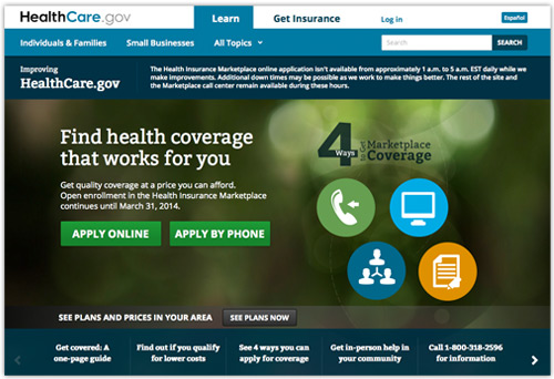 HealthCare.gov web site design