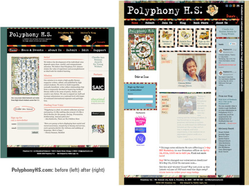 PolyphonyHS.com redesign