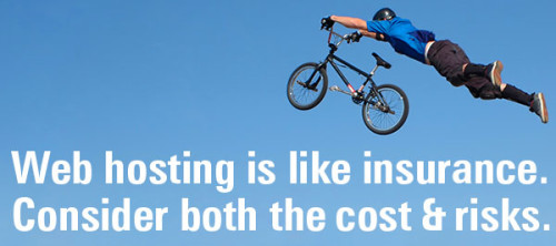Web hosting is like insurance: consider both cost & risk.