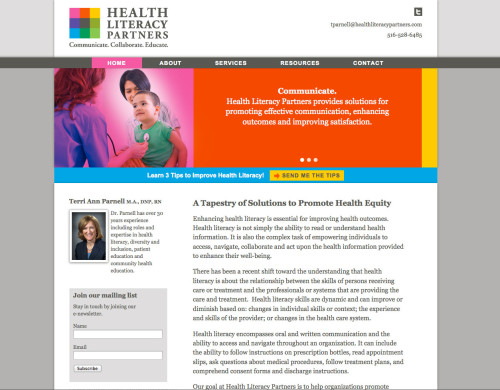 Web Design for Health Literacy Partners