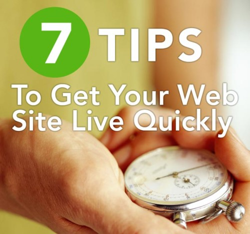 Get Your Web Site Live Quickly