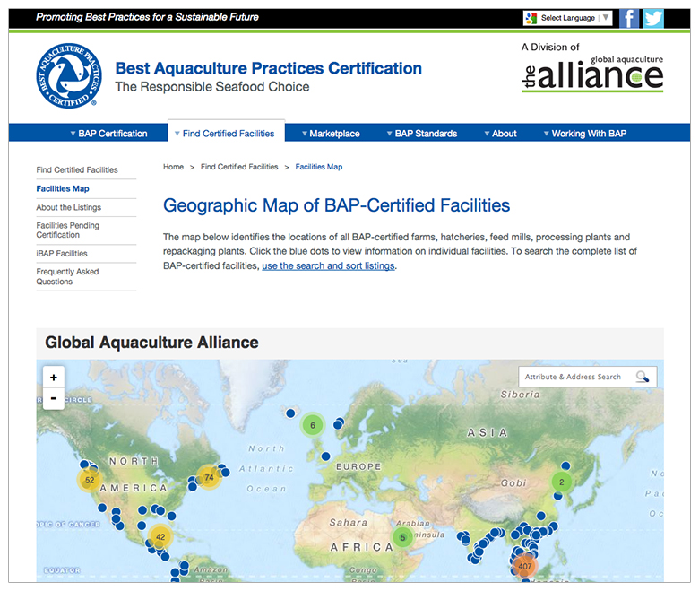 BAP-Best-Aquaculture-Practices-website-search-sort-map