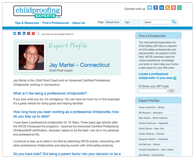 IAFCS Childproofing Experts expert profile