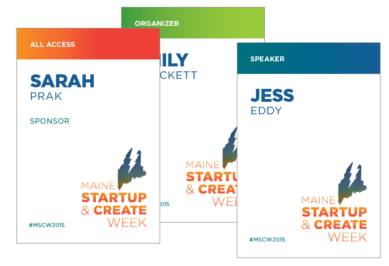 Maine Startup and Create Week Badges