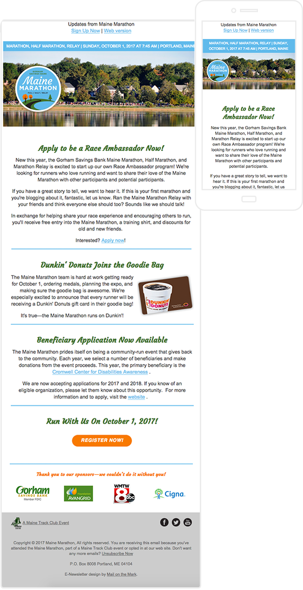 Maine Marathon newsletter