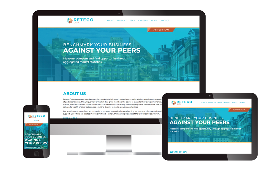 Retego Data website design