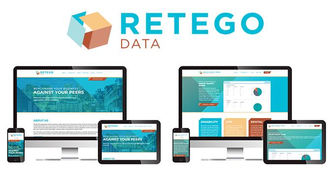 Retego Data logo and web design