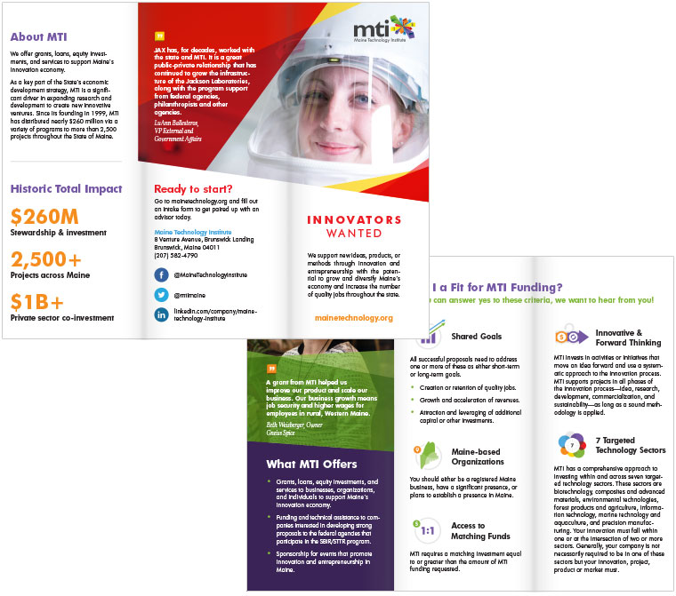 Maine Technology Institute brochure