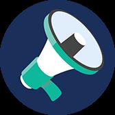DAVO megaphone icon