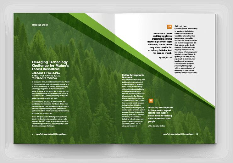 MTI Annual report spread