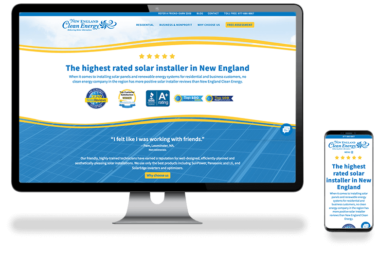 New England Clean Energy Website Design