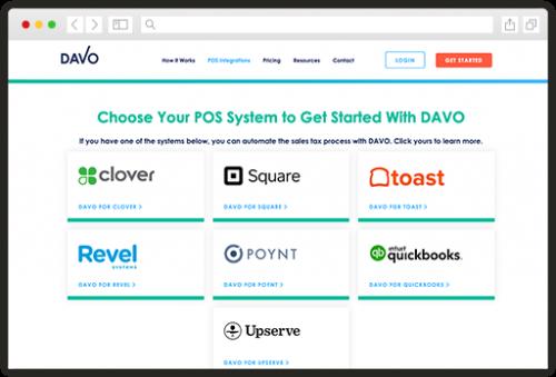 DAVO Integrations page
