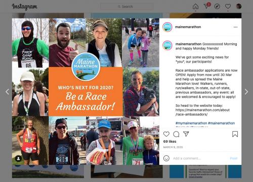 Maine Marathon social media